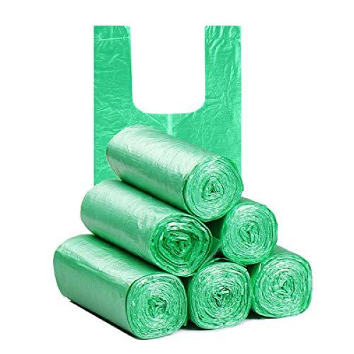 5 Rollen 10L Müll Mülltonne Liner Küche Toilette Müll Müllsäcke Umweltfreundliche Weste Müllsäcke 100 Säcke Grün