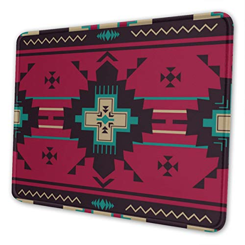 Native Southwest American Indian Aztec Navajo Personalized Mouse Pad - Add Pictures, Text, Logo Or Art Design and Make Your own Customized Mousepad.12 x 10 Inch