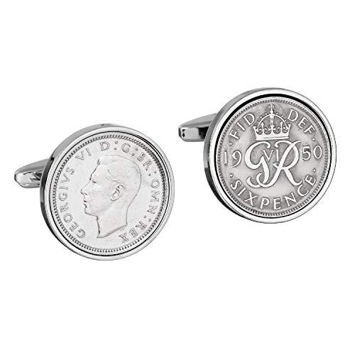 65th Birthday- cadeau Birthday- Idea- années 1950 anglais Parfait Gift- de six pence