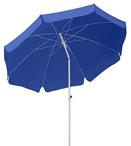 Schneider Sonnenschirm Ibiza, blau, 240 cm rund, Gestell Stahl, Bespannung Polyester, 2.8 kg