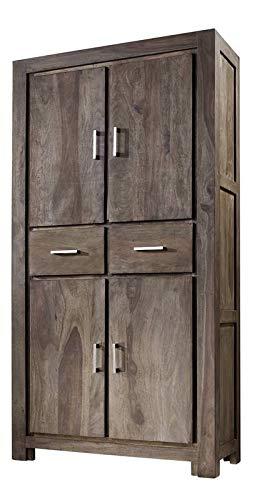 LEGNO MASSELLO SHEESHAM LACCATO MOBILI GRIGIO ARMADIO palissandro mobili in legno massello in legno massello METRO POLIS #121