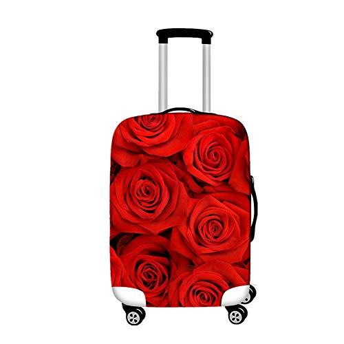 Funda de Maleta de Viaje Elástico, Morbuy Cubierta para Equipaje Funda Maleta Protectora Suave de Anti-Polvo Cubierta de Protector Equipaje con Cremallera (Rosa roja,XL)