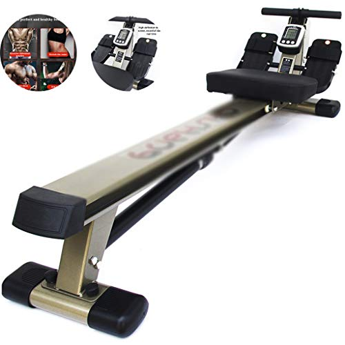 Priority Culture Vogatore, Vogatori Vogatore per Uso Domestico,Fitness Rower Macchina Multifunzionale, Attrezzatura per Allenamento Postura Seduta Regolabile,Cuscinetto 200 kg