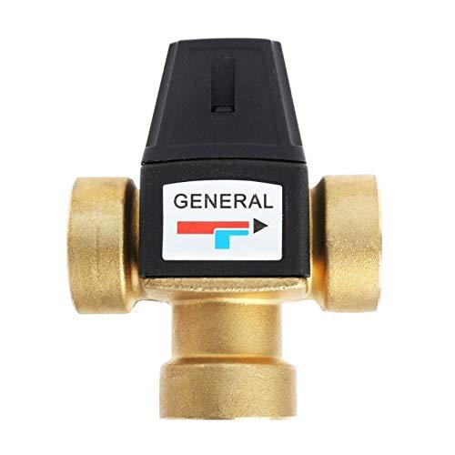 LXH-SH Das elektromagnetische Ventil DN25 Solarwarmwasserbereiter Ventil 3-Wege-Thermostatmischventil 1 Zoll 3-Wege-Außengewinde Thermostat-Mischventil Industriebedarf