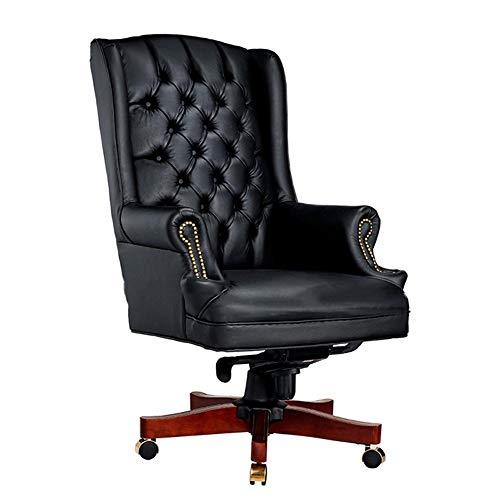 JCCOZ-URG Boutique Chair Luxus-Manager Executive Director Antike PU-Leder Büro Tisch Stuhl Möbel hohe Rückenlehne URG