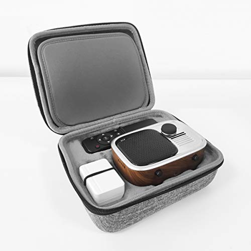 Tragbarer Projektor-Hartschalenkoffer mit Schaumstoff - Anpassbarer Schaumstoff für Podoor T1 Mini Beamer und mehr kleine Elektronik und Zubehör - Premium-Koffer mit individueller Polsterung