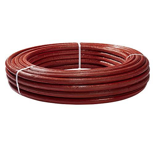 H2O-Flex Aluverbundrohr, Mehrschichtverbundrohr, 6 mm Isolierung rot, 16 x 2 mm, 50 m Rolle, DVGW Rohr