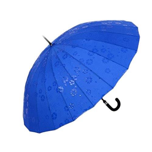 Lámpara de pie nórdico retro marrón plisada resina tallada gruesa interruptor de pie lámpara de pie para sala de estar 60 pulgadas paraguas para hombres y mujeres (color: azul, tamaño: L)