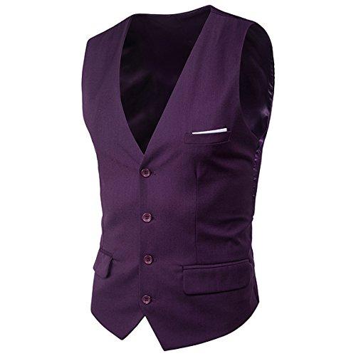 Allthemen kostuum bruiloft blazer vest broek heren business slim fit