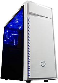 Hiditec Torre Pc NG-Z1 (ATX, Micro ATX, Lector de tarjetas SD/MicroSD, Estructura Acero, Metacrilato, USB 3.0, 3 ventiladores Led de 120mm y Gráficas hasta 360mm) color negro