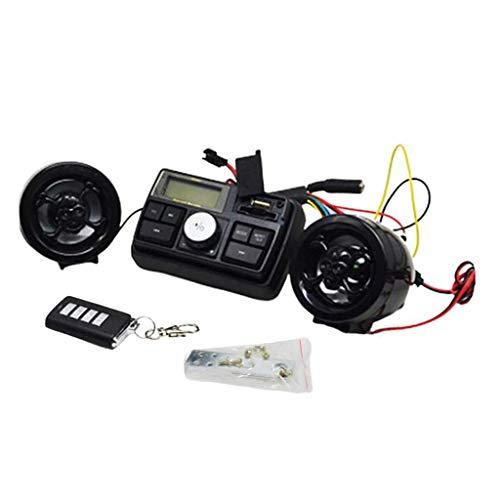 H HILABEE 12 V FM Radio De Motocicleta / MP3 Altavoz Reproductor De Audio Esté +2 Altavoz Impermeable