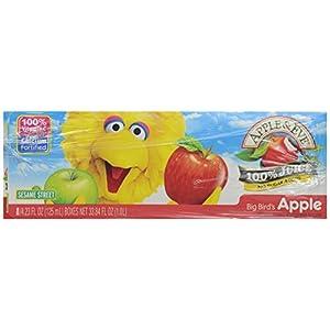 Apple & Eve 100% Juice Big Bird's Apple, 4.23 Fl Oz, Pack of 8 |