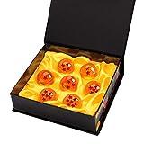 Bolas del Dragón DragonBall [7PCS], Mardozon Dragon Ball Z Bolas de Dragón 1 a 7 Estrellas con Caja de Regalo, Regalo de Año Nuevo para Coleccionar o Regalar para Niños/Anime Amante - Diámetro 4,3CM