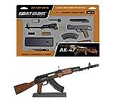 GoatGuns Miniature AK47 Model Black | 1:3 Scale Die Cast Metal Build Kit