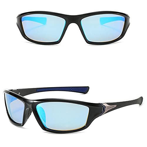 WQZYY&ASDCD Gafas de Sol Gafas para Hombre Gafas De Sol Polarizadas Hombres Al Aire Libre Deporte Gafas De Conducción Gafas De Sol De Visión Nocturna Gafas-Azul