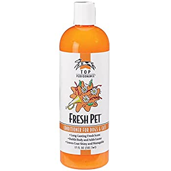 Top Performance Fresh Pet Conditioner to Reduce Mats and Tangles 17 Oz Size – Conditioning Formula Gives Coats Sheen