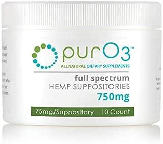 PurO3 Hemp Suppositories 750mg - 10 Count