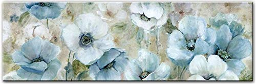 DIY 5D Diamond Painting by Number Kits,Crystal Rhinestone Diamond Embroidery Paintings Pictures Arts Craft for Home Wall Decor,Full Drill,Watercolor Flowers-L9024-Round Drill,80x160cm(31.5 * 63inch)