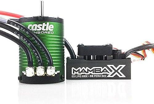 CASTLE CREATION Mamba X Combo 1 10 Extreme BRUSHLESS voiture REGLER MIT 1406-5700 SENSoruge Motor