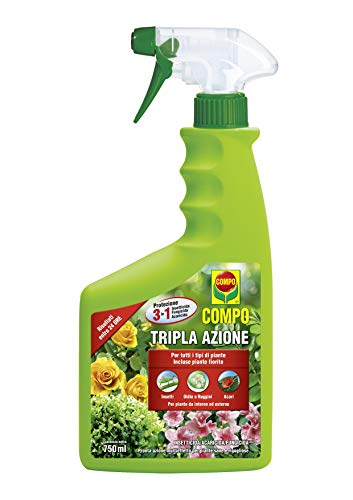 COMPO Tripla Azione PFnPO, Insetticida-Fungicida-Acaricida pronto all'uso, Per Piante Ornamentali e...
