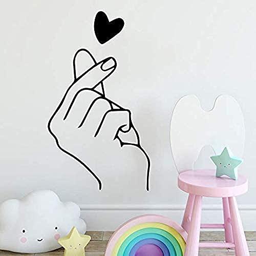 Pegatina de pared de PVC extraíble calcomanía de pared en forma de corazón habitación de bebé accesorios de decoración del hogar decoración de dormitorio 43X75Cm