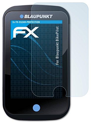 atFoliX Schutzfolie kompatibel mit Blaupunkt BikePilot Folie, ultraklare FX Bildschirmschutzfolie (3X)