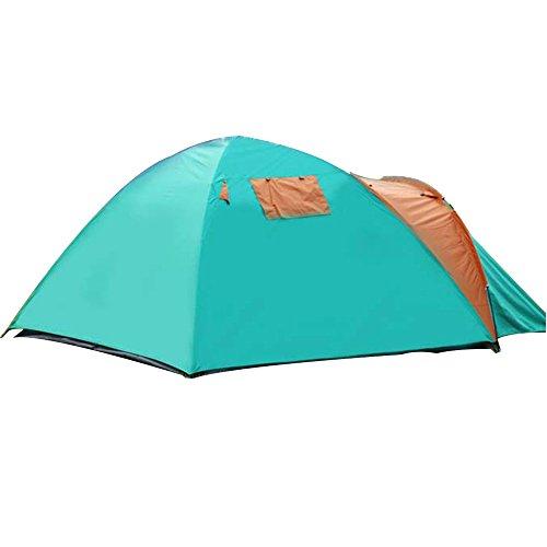 Outdoor benodigdheden Handmatig bouwen Tenten, Een Kamer Een Hal Dubbele Regendichte Camping Tenten, 2-3-4 Personen Groen Gecoat Zilver Zonnescherm Tenten, Luifel Gazebos, Familie Camping Tenten Fyxd