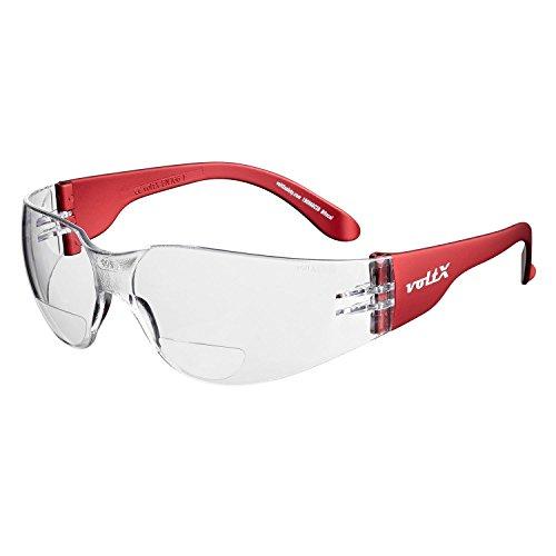 voltX 'GRAFTER' (TRANSPARENTES dioptría +2.0) Lentes de lectura de seguridad industrial bifocales, Certificado CE EN166F / Gafas de Ciclismo – Safety Reading Glasses + Lente UV400