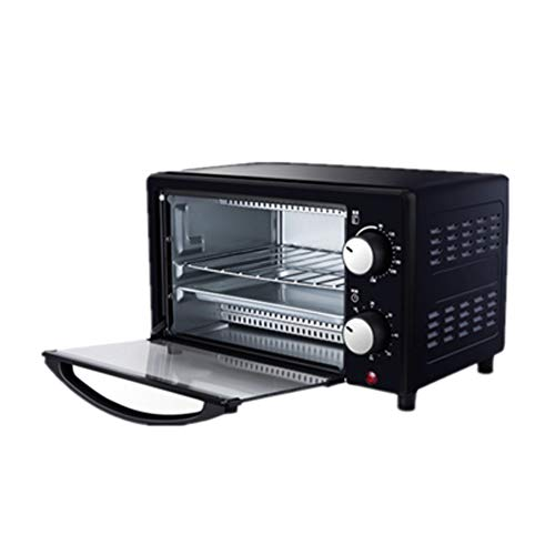 Miniofen 12 Liter | Toasterofen | Elektrischer Ofen | Backofen | Kleiner Ofen | Doppelglastür | Abnehmbare Krümelschublade | Innenbeleuchtung | 800 Watt
