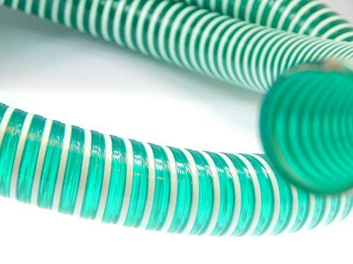 Preisvergleich Produktbild Saugschlauch Spiralschlauch grün (Meterware) 32mm