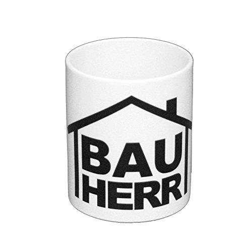 shirtdepartment Kaffeebecher Bauherr Richtfest Bauarbeiter Hausbau Baustelle BAU Becher NEU