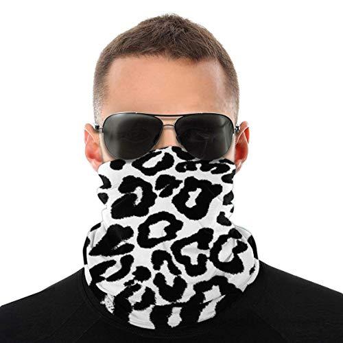 N/W Leopard Pattern Men Women's Face Bandana Ear Rings Washable Reusable Cloth Neck Bib Scarf 1 Pice black