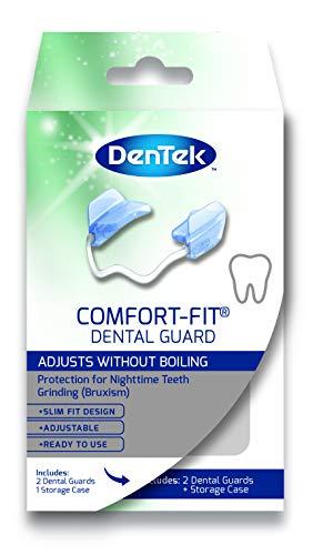 DenTek Protectores dentales de ajuste cómodo para ayudar a prevenir la molienda y apretar los dientes de la noche conocidos como bruxismo (paquete de 2)