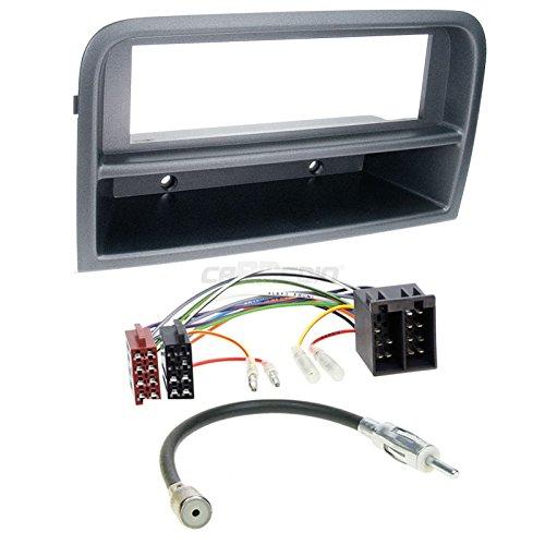 1–dIN aCV electronic façade d'autoradio pour fiat croma (type 194 (noir)