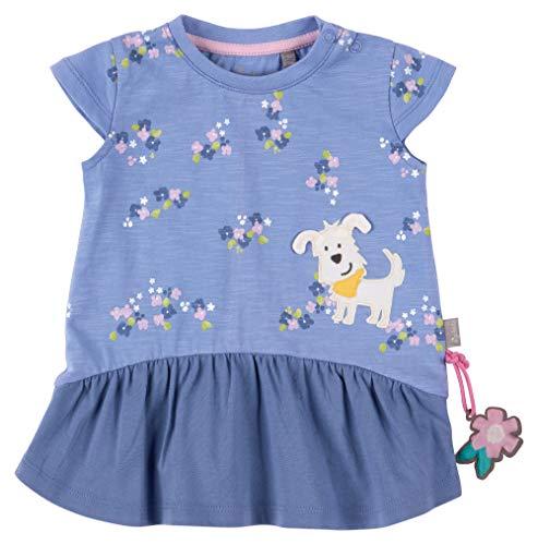 SIGIKID Baby - Mädchen Kleid Sommerkleid Kurzarm aus Bio-Baumwolle, abnehmbares Hangtoy, Rosa, 86