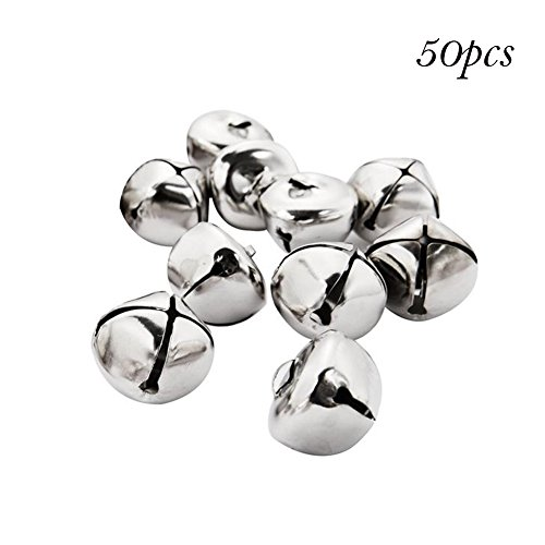 YiGo - 50 Cuentas de Hierro Sueltas de 25 mm, pequeñas cascabeles de decoración de Navidad, Colgantes,...