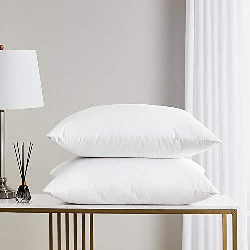 NMGH Almohadas, almohadas de fibra de soja, un par de camas individuales para el hogar, protección de la columna cervical, núcleo de almohada de algodón súper suave para ayudar a dormir uno.