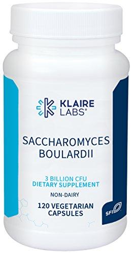 Klaire Labs Saccharomyces Boulardii Probiotic - Acid Resistant & Shelf-Stable Probiotic Supplement to Help Support Healthy Yeast Balance, Immune & Digestive Health - Hypoallergenic, Dairy-Free (120ct)