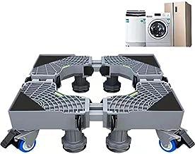 Wasmachinestandaard Dolly-rolbasis met 4 × 2 vergrendelingsrubberen zwenkwielen en 8 sterke poten voor wasmachine, droger,...