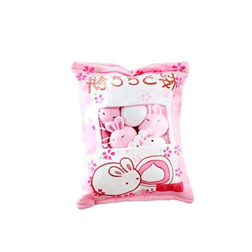 DierCosy Una Bolsa de Felpa muñecas Mini Pudín Peluches Snack-Bolso de la Almohadilla de la muñeca del sofá Suave Almohada para la decoración del hogar (Conejito)