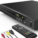 ブルーレイプレーヤー DVD プレーヤー Blu Ray 1080P 高画質 2021最新版 再生可能 ブルーレイ DVD CD USBメモリー TV用DTSサウンドエフェクト 内蔵PALNTSC同軸2.0USB ブルーレイリージョンA / 1 リージョンフリーの非ブルーレイディスク, HDMIケーブルが含まれています