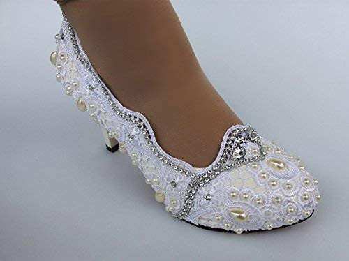 pearls white light ivory lace crystal