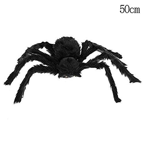 Demarkt Haarige Riesenspinne Halloween Deko Groß Haarige Spinne Horror Party Schwarz 50 cm