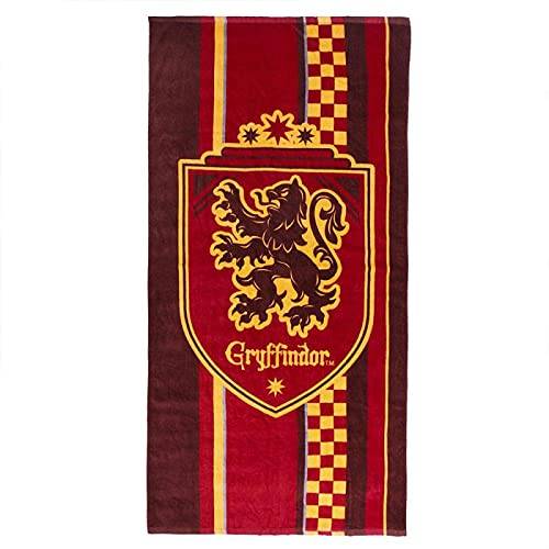 Cerdá Toalla de Playa de Harry Potter para Niños con Licencia Oficial Warner Bros, Multicolor, Regular