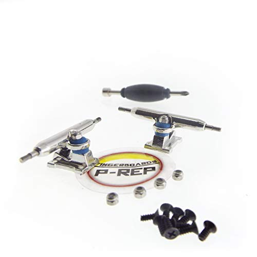 P-REP 32mm Solid Performance Fingerboard Trucks - with Lock Nuts and Baked Bushings
