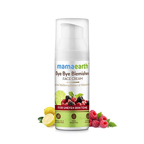 Neema Recommends : Mamaearth Bye Bye Blemishes Face Cream, For Pigmentation & Blemish Removal, With Mulberry Extract & Vitamin C - 30ml