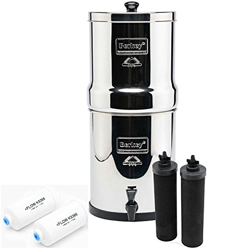 IMP6X2-BB Imperial Berkey with 2 Black Filters and 2 Flouride Filters