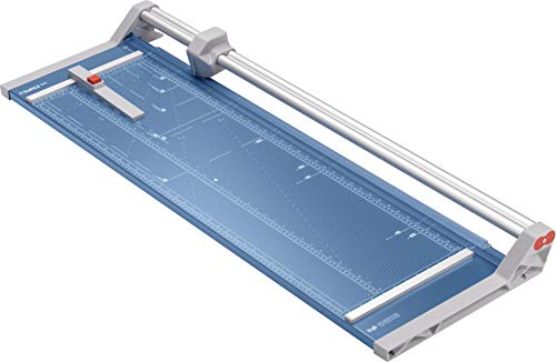 Dahle 556 Papierschneider Modell 2020 (bis DIN A1, 10 Blatt Schneidleistung, 1 mm Schnitthöhe) blau