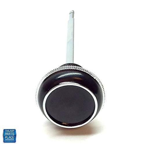 Black & Chrome Headlamp Switch Knob & Shaft New GM # 479773