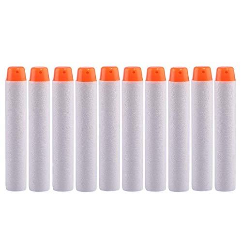 StillCool Nerf Darts, 100 Stück 7.2cm Foam Darts Pfeile Patronen Nachfüllpack Darts für Nerf N-Strike Elite Series Blasters Spielzeugpistole (Weiß, 100)